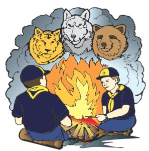 scouts-with-animals-campfire